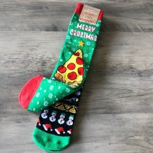 Accessories - Pizza Inspired Christmas Socks